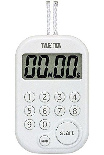 『タニタ(TANITA) キッチンタイマー(デジタル) ホワイト デジタルタイマー 100分計 TD-379-WH』の1枚目の画像