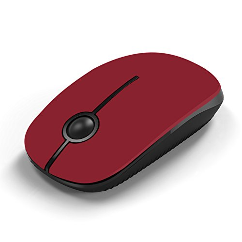Wireless Mouse, Jelly Comb MS001 2.4G Computer Mice with Nano Receiver for PC/Desktop/Laptop (with USB ports) and Windows/Mac/Linux, Silent & Smooth, Basic Design (Red)