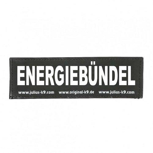 Julius-K9 162LR-G-50827 Klettaufschrift, ENERGIEBÜNDEL, schwarz