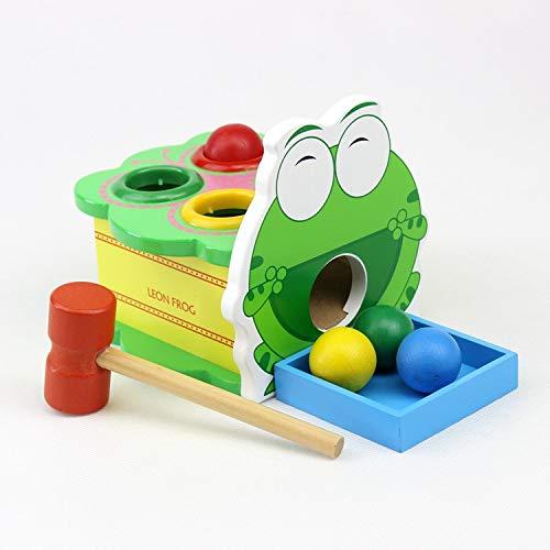 Ruisy Frosch Klopfspiel Klopfbank Pädagogisches Spielzeug für Kinder ab 18 Monaten