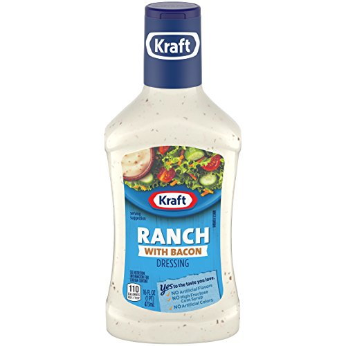 Kraft Ranch with Bacon Salad Dressing (16 fl oz Bottles, Pack of 6)
