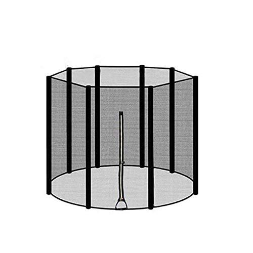 6/8/10/12 pies Red de cerramiento de trampolín / Accesorio de repuesto de trampolín de nailon seguro y duradero / Envolvente de red de seguridad de trampolín / Compatible con varios postes (8ft/244cm)