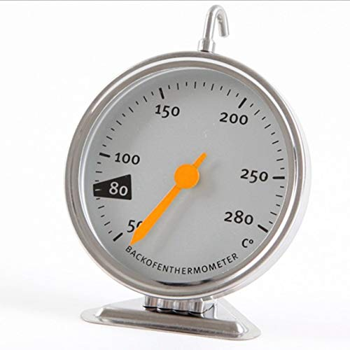 Ba30DEllylelly Horno eléctrico de cocina Termómetro mecánico Termómetro para hornear de acero inoxidable Herramientas para hornear para horno 50-280 ℃