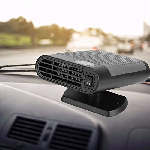 AUNMAS Autovoorruit, 12 V, 150 watt, draagbare 2-in-1 defroster, 360 graden ventilator, voor ramen, snelle verwarming, machine voor auto