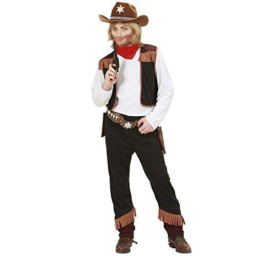 Widmann 02597 - Kinderkostüm Cowboy, Shirt mit Weste, Hose und Halstuch, Größe 140