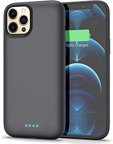 iPosible Cover Batteria per iPhone 12 Pro Max, 7800mAh Cover Ricaricabile Custodia Batteria Cover Caricabatteria Battery Case per iPhone 12 Pro Max [6.7  ] Cover Power Bank Backup Charger Case