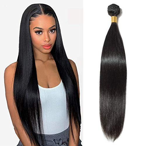 Brazilian Vrgin Straight Hair1 Bundle 22 Inch 12A Virgin Remy Virgin Straight Human Hair Bundles 100% Unprocessed Remy Hair Bundles Natural Color