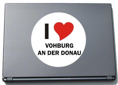 I Love Aufkleber Decal Sticker Laptopaufkleber Laptopskin 210 mm mit Stadtname VOHBURG AN DER DONAU