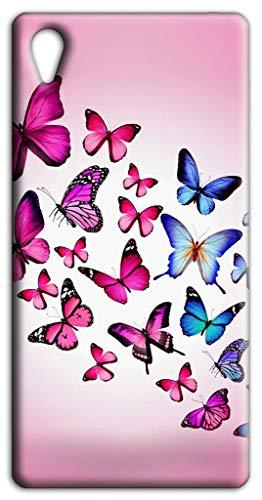 Mixroom - Cover Custodia Case in TPU Silicone Morbida per ASUS Zenfone Live L1 ZA550kl 5.5' Fantasia Farfalle Rosa L156