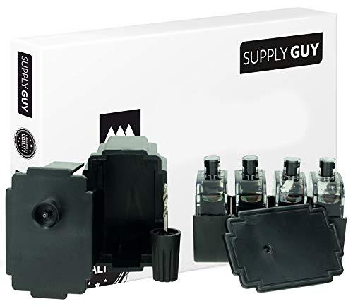 SupplyGuy Kit Recarga Compatible con Canon PG-545 Cartuchos - 4X Nero - Incl. Accesorios para el llenado fácil y Limpio de los Cartuchos PG545