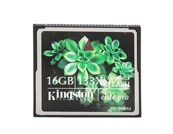 Kingston 16GB 133X CF Compact Flash Card (Black)