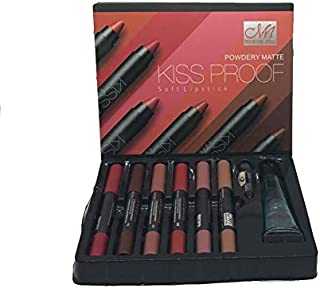 Mn Cosmetics Makeup Matte Kiss Proof lipstick, Set of 6 Pieces and 1 pcs lip remover-3