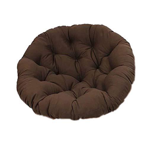 Almohada Colgante para, Silla Mecedora con Correa Fija Suave, Acolchado de algodón a Menudo para Colgar Forma de Hamaca marrón,Marrón