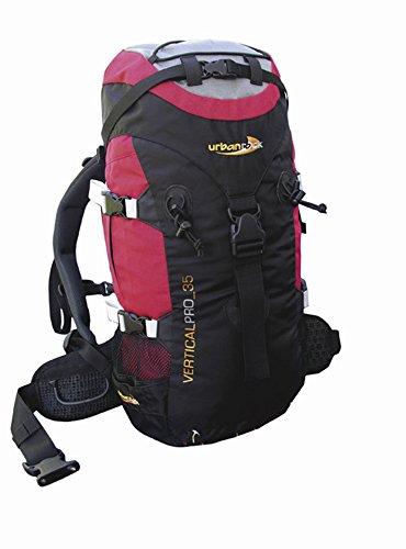 Urban Rock Vertical Pro 35 Sac à Dos de randonnée Noir/Rouge 1200 g