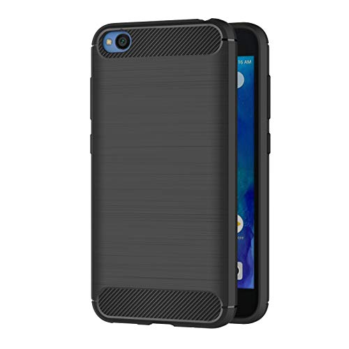 AICEK Xiaomi Redmi Go Cover, Black Redmi Go Case Soft Silicone Black Cover for Xiaomi Redmi Go Soft TPU Case (5.0 Inch)