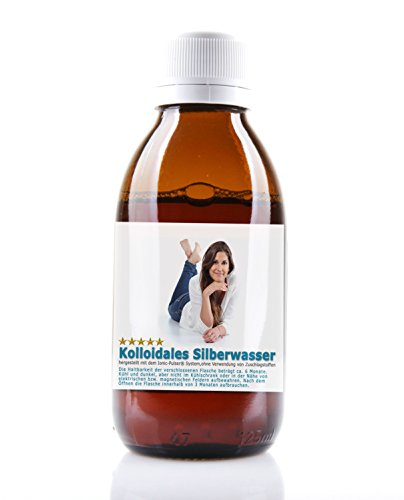Kolloidales Silber 1000ml 25ppm Silberwasser: in einer Apotheker Glasflasche - Reinstwasser und Pures Silber 99,99%