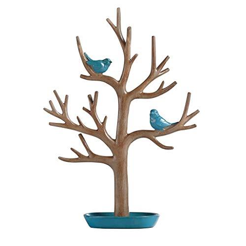 ZLBYB Joyería Creativa del árbol del pájaro de Almacenamiento en Rack baratija...