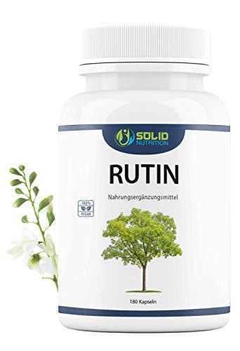 NEU: Rutin Kapseln I XXL Packung - Vorrat für 6 Monate I 180 Kapseln hochdosiert aus natürlichem Sophora Japonica Extrakt - 450mg (davon Rutin 428mg) - Vegan