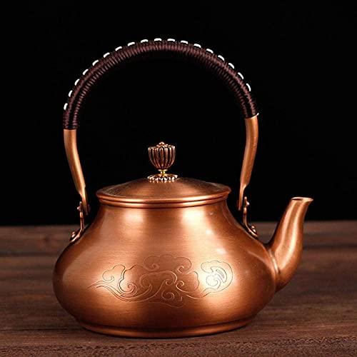 Qettle de cobre puro QOHG, hervidor de cobre, tetera hecha a mano, hervidor de hogar kung fu set-c_1400ml