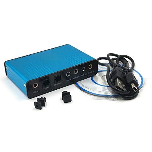 CARRYKT Optischer Audio-Adapter Externe Soundkarte 5.1 USB auf 3,5 mm Kopfhörer Stereomikrofon für PC Computer Laptop