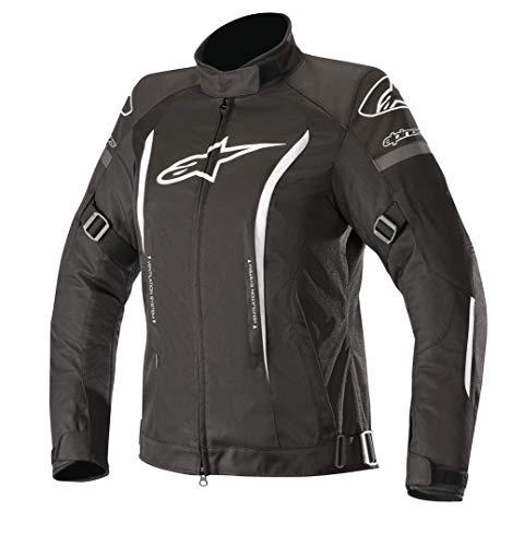 Alpinestars Chaqueta moto Stella Gunner V2 Wp Jacket Black White, Negro/Blanco, M