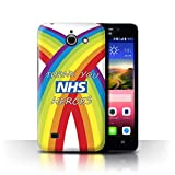 Stuff4 Phone Case for Huawei Ascend Y550 LTE NHS Rainbow