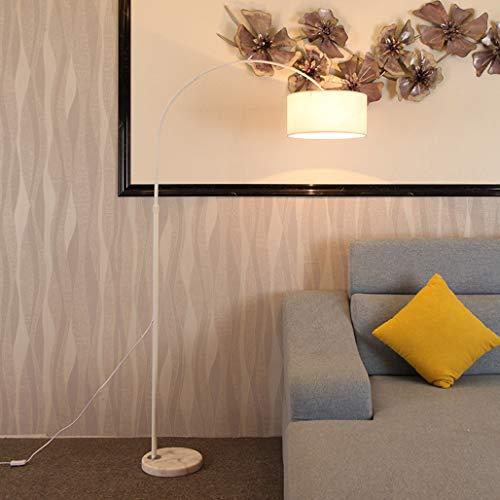 WRMING Lámpara de Pie para Salón, Moderna Lámpara de Arco Hierro Forjado Lámpara de Piso Lámpara de Lectura para Dormitorio, Oficina, Altura Ajustable, Span Ajustable, E27,Beige
