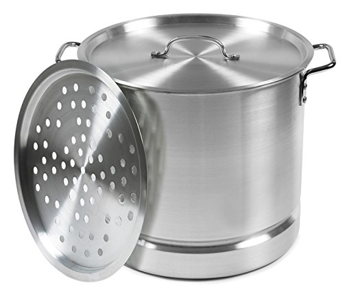 IMUSA USA Aluminum Tamale and Steamer Steamer Po 12-Quart, Silver