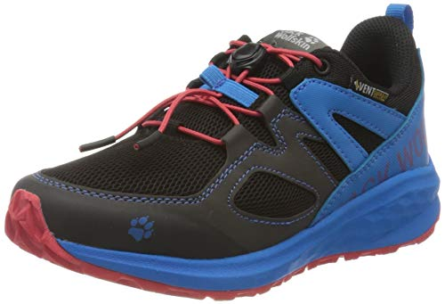 Jack Wolfskin Unisex Kinder Unleash 2 Speed Vent Low K Walking-Schuh, Black/Blue, 38 EU