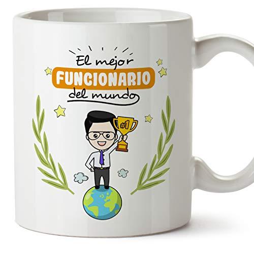 MUGFFINS Taza Funcionario (Mejor del Mundo) - Regalos Originales y Divertidos de Oposición