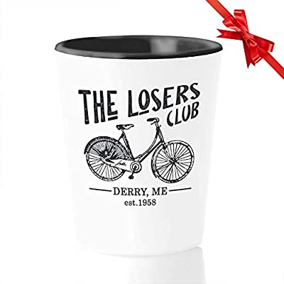 Horror Movie Shot Glass 1.5 Oz - The Losers Club - Inspired Quotes Film Cinema Film Book Mystical Pennywise The Dancing Clown Derry Actor Actress Fan White Mug