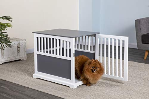 """Go Pet Club 28"""" Dog Crate End Table, White, Medium Crates Furniture-Style"""