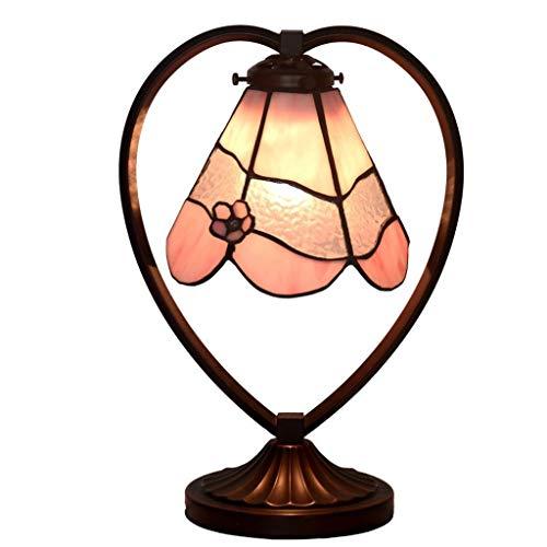 PYROJEWEL Moderno Lámparas de Mesa, Personalidad Simple Rosa en Forma de corazón Led Luces Dormitorio lámpara de cabecera, Perspectiva de Lectura luz de la Noche