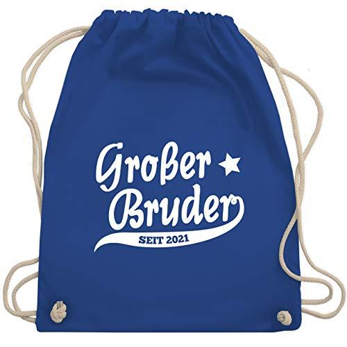 Shirtracer Geschwisterliebe Kind - Großer Bruder seit 2021 - Unisize - Royalblau - großer bruder turnbeutel - WM110 - Turnbeutel und Stoffbeutel aus Baumwolle