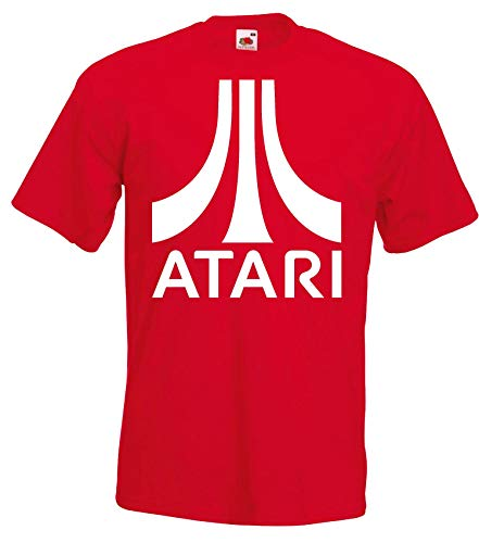 Youth Designz Maglietta da uomo modello Atari Colore: rosso XL