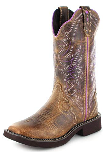 Justin Boots Damen Cowboy Stiefel L2918 Tan Westernreitstiefel Lederstiefel Braun 39.5 EU