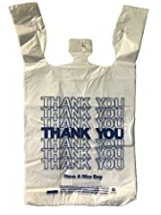 Thank You T-Shirt Grocery Bag HDPE 12X7X22 17-MIC 440PCS/CS N.W: 7.5LBS