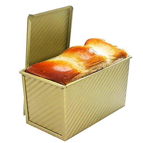 DLUCKY Bakeware Loaf Pan with Cover Bread Toast Mold with Lid Loaf Tin Bread Mold for Barking,Breads and Meatloaf Homemade Cakes Baking Bread Pan