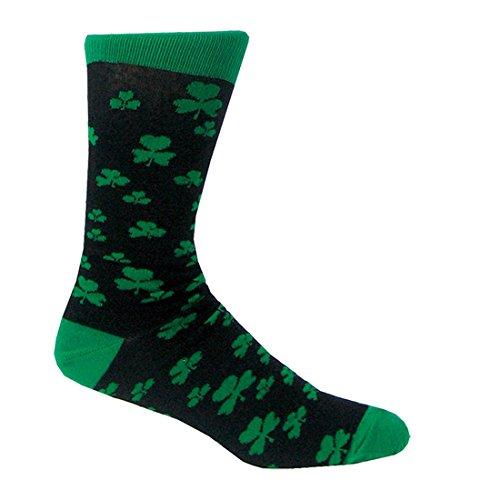 Traditional Craft Ltd. Shamrock Socks One Size (Black)