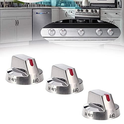 NGLSCXR Tóberas de control de la estufa de gases de 5 piezas, interruptor de la placa de gas de gas, horno de la cocina universal Control de control de la plataforma de control, interruptor de horno M