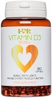 Vitamin D3 5000 IU - 180 softgels - i-vit