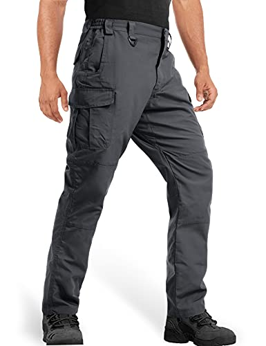 MAGCOMSEN Fishing Pants for Men with Pockets Quick Dry Travel Pants for Men Tactical Pants Breathable Cargo Pants Outdoor Pants Work Pants Dark Grey