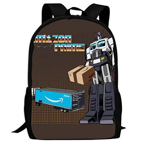LOVE Lego Mochila escolar para niños para niños y niñas, Camión transformador Amazon Prime (Optimus),…