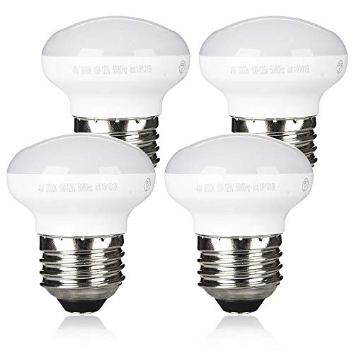 Zorykn R14 LED Reflector Dimmable Floodlight, 4W(4 Pack), 25W Equivalent Light Bulbs with Medium E26 Base,280 Lumens,3000k Warm White