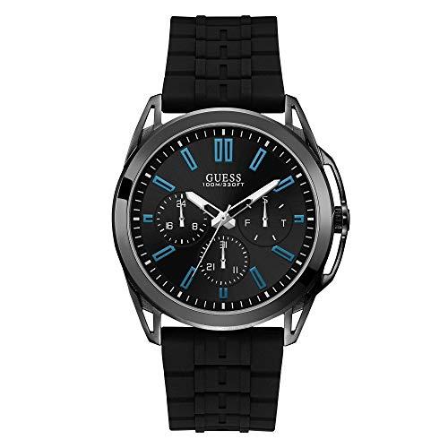 GUESS Reloj Analógico para Hombre de Cuarzo con Correa en Caucho W1177G1