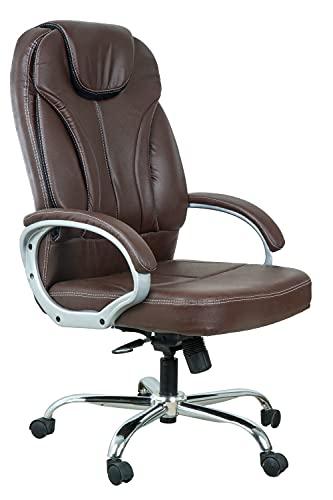 Casa Copenhagen High Back Home Office Chair/Revolving Chair/Desk Chair/Boss Chair—Dark Brown