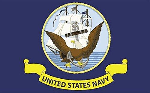 US Navy Drapeau 5Ft X 3ft Taille-100% Polyester-Oeillets Métal-Double Couture