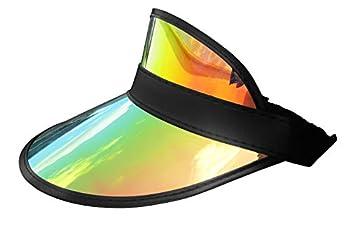 Clear Iridescent Colored Plastic Sun Visor Tennis Beach Vegas Dealer Golf Hat