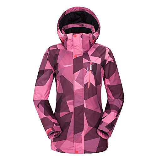 JOMSK Cómoda Chaqueta Impermeable Lluvia Chaqueta Impermeable Malla Forrado Niñas Viajar Rosa De Esquí Traje Traje de Esquí a Prueba de Viento (Color : Pink, Size : L)