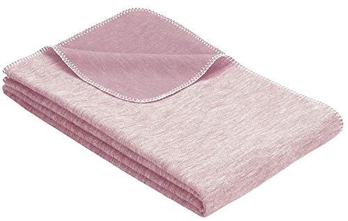 Flauschige Babydecke aus 100{6ca3d7202c88e59b559d6e37b8a976935954e502998184480610635729dbae00} Bio Baumwolle - kuschelige Baumwolldecke hergestellt in DEUTSCHLAND. Ideal als Baby Decke, Erstlingsdecke, Einschlagdecke oder Kuscheldecke - Rosa für Mädchen